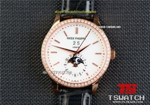 PA18140 - Patek Grand Complications White Real Solid 18K RG Genuine Diamond Swiss ETA 2892